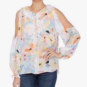Catherine Malandrino M NWT Cold Shoulder Floral